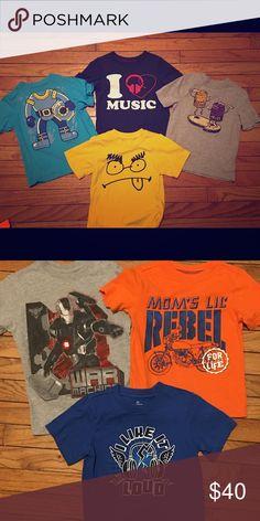 Boys Size 4 Shirt Bundle 7 Boys Size 4 T-Shirt Bundle. All Gap 9388fb2ed5af2