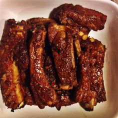 Five spice is fantastic with pork ribs, you have to try it! This Asian marinade is pretty simple to make. Pork Rib Marinade, Braised Pork Ribs, Beef Ribs, Pork Rib Recipes, Meat Recipes, Cooking Recipes, Cooking Games, Recipies, Smoker Recipes