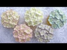 Karen Davies Cake Decorating Moulds / Molds. Free beginners tutorial / how to - Hydrangea cupcake - YouTube