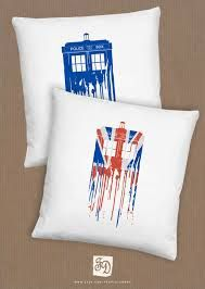 I painted two tardis pillows today. Not like this one but they're still awesome