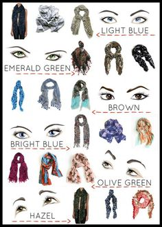 How To Know Your Eye Color & Choose a Scarf That Works.   Make it Look Easy #ChooseAScarf #KnowYourEyeColor #ScarfKnotting
