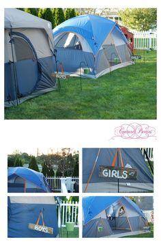 Camping Themed Birthday Party Ideas www.spaceshipsandlaserbeams.com