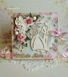 FILIGRANKI: Ślubna kartka-książka / Wedding book card