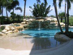Pool made to look like sand/beach!?! Yep, you'll be in my backyard one day...