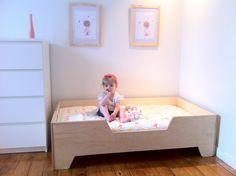 30 Brilliant Image of Toddler Bed Diy Girl . Toddler Bed Diy Girl Diy Projects Diy Toddler Bed With Birch Plywood Toddler Floor Bed, Diy Toddler Bed, Toddler Stuff, Girl Toddler, Diy Wohnmöbel, Diy Bett, Kids Play Kitchen, Diy Home Furniture, Childrens Beds