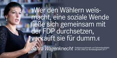 Sahra Wagenknecht: »Martin Schulz zeigt mit seinem Werben für eine Ampel, wo ...