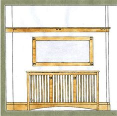 Arts and crafts movement design for an oak radiator cover case & wall mirror furniture Mirror Furniture, Furniture Ideas, Home Radiators, Arts And Crafts Interiors, Paper Doll House, Mission Oak, Radiator Cover, Front Rooms, Room Planning