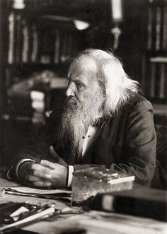 Dmitri Mendeleev (1834 - 1907) ♦ Russian chemist and inventor. He formulated the Periodic Law, created a farsighted version of the periodic table of elements, and used it to correct the properties of some already discovered elements and also to predict the properties of eight elements yet to be discovered.