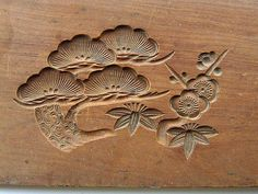 Vintage Japanese Kashigata Sweets Mold Plum Blossoms And Pine / VintageFromJapan on Etsy