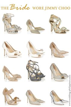 A curated collection of my favorite Jimmy Choo wedding shoes. A collection of some of the best wedding shoes by Jimmy Choo. Perfect styles for brides