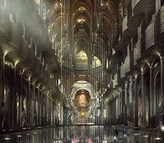 Jupiter Ascending Concept Art. The Jupiter Stockworks, AKA Balem Abrasax cool bachelor pad of evil and beauty. WANT. It is like art deco, art nouveau, and gothic came together and had an evil sci fi baby.