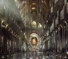 The Jupiter Stockworks - Original concept art for Balem Abrasax's throneroom at the Jupiter Stockworks. - Jupiter Ascending – Official Look Book
