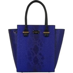 Paul's Boutique Mila Tote Bag, Electric Blue (€97) ❤ liked on Polyvore featuring bags, handbags, tote bags, blue tote, paul's boutique, blue purse, structured handbag and royal blue tote bags