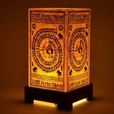 Warli Table Lamp Home Decor Online Shopping India Interior Decoration Furniture Furnishings