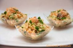 Cous Cous salmone affumicato rucola noci- You can examine all tattoo models and print them out. Gourmet Recipes, Cooking Recipes, Healthy Recipes, Finger Food Appetizers, Finger Foods, Aperitivos Finger Food, Muffuletta Sandwich, Easy Cooking, Clean Eating Snacks