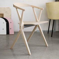 Silla moderna / plegable / apilable / de madera B BD Barcelona Design