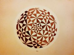 Pencil, Walnut and Caoba ink on paper Alberto J. Almarza Created May 2013 Geometric Solids, Geometric Shapes, Math Art, Op Art, String Art, Sacred Geometry, Color Patterns, Illusions, Graphic Art