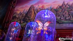 Efteling wallpaper van de vlinders in de Panorama Salon van Symbolica