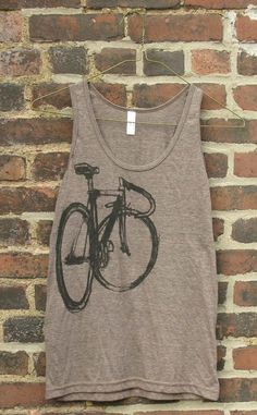 Fixed Gear Bicycle Tank Top by bicyclepaintings on Etsy, $25.00
