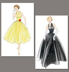 Vintage 1950s dress patterns from Vogue that you can purchase now!  Love it!