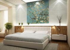 une chambre à coucher spacieuse tons bois naturel et blancs