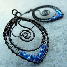 Náušnice - Vášnivě modrá