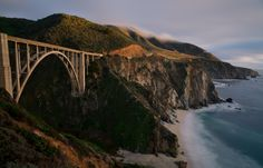 Pacific Coast Highway (USA). 'California's coastal highways snake past dizzying sea cliffs and dozens of beach towns.