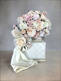wedding card box pastel bouquet wedding card holder wedding card box custom card box handmade gift card boxes wedding gift box