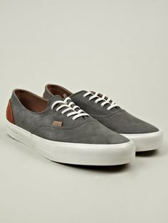 Vans Mens Grey Era Decon CA Nubuck Sneakers