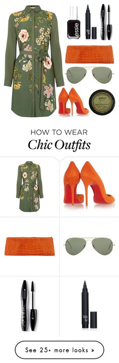 """Untitled #119"" by cuz-im-a-queen on Polyvore featuring Oasis, Christian Louboutin, Ray-Ban, Lancôme, Essie, women's clothing, women, female, woman and misses"