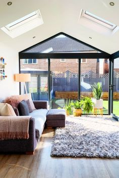 Our Modern Conservatory Extension- Before and After (Home Renovation Project - Katie Ellison Conservatory Interiors, Modern Conservatory, Conservatory Roof, Conservatory Furniture, Garden Room Extensions, House Extensions, Architecture Renovation, Home Renovation, House Extension Design