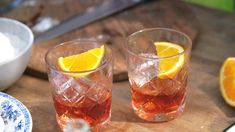 Negroni Non Alcoholic Drinks, Cocktail Drinks, Cocktails, Color Mixing, Food And Drink, Pudding, Gin, Snacks, Desserts