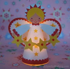 Christmas DIY Decorations - Starry Christmas Angels ~ a sweet paper printable to… Christmas Angel Crafts, Christmas Angels, Winter Christmas, Christmas Tree Ornaments, Holiday Crafts, Christmas Holidays, Christmas Decorations, Holiday Decor, Christmas Activities