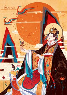 西王母_涂鸦王国 原创绘画平台 www.poocg.com