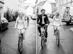 auf dem Rad zum Standesamt in Erfurt Stretch Limo, Bike Wedding, Real Weddings, Gera, Erfurt, Bicycle Wedding, Wedding Photography