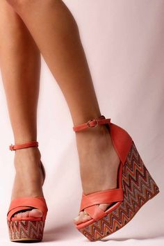 https://www.cityblis.com/6186/item/15306 | JEFFREY CAMPBELL BRADSHAW 2 RED LEATHER - $160 by Jeffrey Campbell | Get Carried Away - Summery platform wedge is fresh and on trend. And if you;re super petite like SJP, you;ll welcome the extra boost. 13cm heel and 5cm platform. BRADSHAW 2 by Jeffrey Campbell | #Wedges