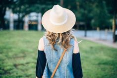 We have straw hats and summer nights on the mind! #ootd