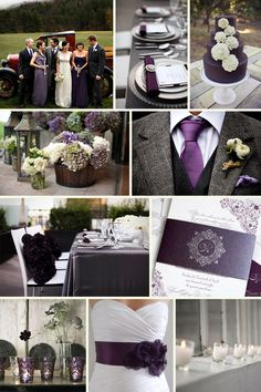 Love the plum and charcoal!