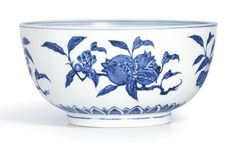AN EXTREMELY RARE BLUE AND WHITE 'FRUIT' BOWL<br>MING DYNASTY, YONGLE PERIOD | Lot | Sotheby's
