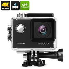 MGCOOL Explorer Action Camera - Sony Image Sensor, Anti Shake, Wi-Fi, iOS + Android APP - MGCOOL Explorer Action Camera uses a stunning Sony sensor so you can record in resolutions at and the 170 degree FOV ensures you won't miss a thing Android Camera, Camera Deals, Sony Camera, Video Camera, Burst Photos, Wifi Options, Sports Camera, Camera Reviews, Action
