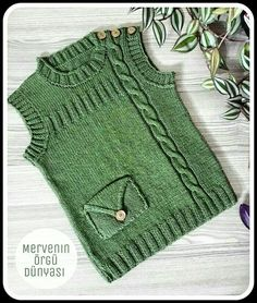 Diy Crafts - happy,markets-I came to happy peaceful markets with new color and model trials. Baby Knitting Patterns, Baby Sweater Knitting Pattern, Knit Baby Sweaters, Baby Hats Knitting, Knitting For Kids, Easy Knitting, Knitting Designs, Knitted Hats, Knit Vest
