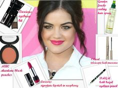 LUSCIOUS SIGNATURE LIPSTICK IN RASPBERRY to get the hot pink lips like Lucy Hale.