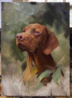 Dog Canvas Painting, Animal Paintings, Animal Drawings, Painting & Drawing, Painting Inspiration, Art Inspo, Dog Artwork, Dog Portraits, Cool Art