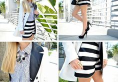 black and white stripe style