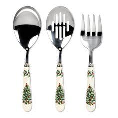 Spode 1497665 Christmas Tree 3 Piece Cutlery Set