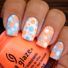 Truly Inspiring Easy Dotted Nail Art Designs for Everyday Fashion Charming Matte Polka Dot Nails Perfect for SummerCharming Matte Polka Dot Nail Designs, Holiday Nail Designs, Nails Design, Salon Design, Disney Nail Designs, Holiday Nails, Dot Nail Art, Polka Dot Nails, Polka Dots