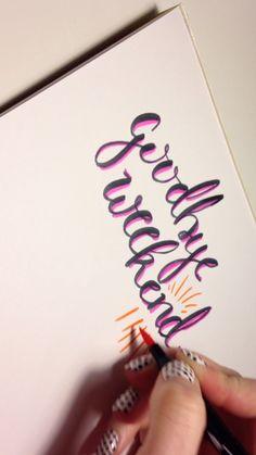 Goodbye Weekend Hand Lettering