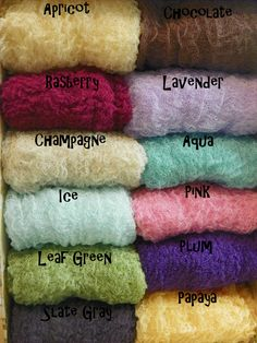 Set of Five Cheesecloth Photography Props...Over 50 Colors...Newborn Props...Maternity Photo Props.... $25.00, via Etsy.