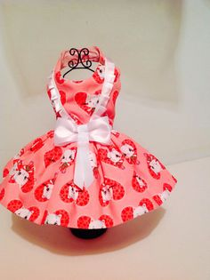 Valentine hearts dog dresses for small breed dogs