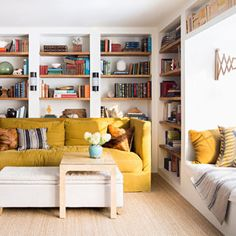 Home Library Room   interior design , library , room of the week